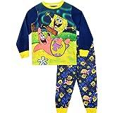 Bob Esponja Pijamas de Manga Larga para niños Sponge Bob Squarepants Azul 3-4 Años