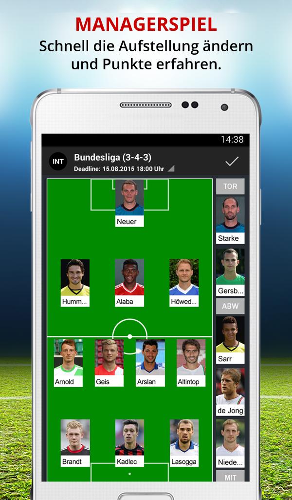 Kicker Fussball Bundesliga Live