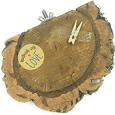 Vitezza Vogel Kork-Astscheibe XL, Sitzbrett, Sehr groß, Mindestens 14cm x 10 cm inkl. Befestigungsmaterial aus Edelstah