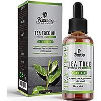 Kanzy Huile Essentielle Tea Tree Bio 60ml Naturelle Vegan Huile Arbre à Thé pour le Visage, Ongles et les Soins de la…