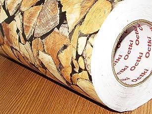 CVANU® Self Adhesive Wood Vinyl Wallpaper Waterproof Old Furniture Vinyl Stickers Wooden Door Wardrobe Desktop PVC Wall Papers Cv55 24''x240''inch