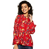 Amazon Brand - Eden & Ivy Women's Floral Slim Fit Full Sleeve Shirt