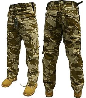 28W HEAVY DUTY COMBAT TROUSERS BLACK US ARMY STYLE CARGO UNIFORM MENS LADIES