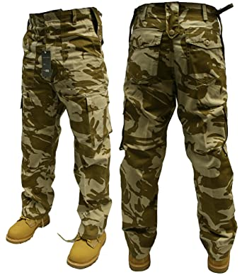 Adults Camo Army Cargo Combat Trousers - 12 DIFFERENT CAMO ...