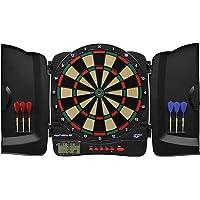 Carromco Elektronische Dartscheibe Panthera-301 – Dartkabinett mit Plastiktüren für 1-8 Spieler, Dartboard mit LCD…