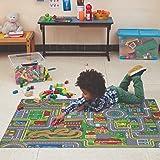 Carpet Studio Tapis Voiture Enfant 95x133cm, Tapis de Jeu pour Chambre Enfant pour Garçon et Fille, Tapis Antidérapant, 30°C