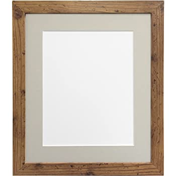 Frames By Post H7 Picture Photo Frame Wood Rustic Oak With Light