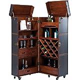 Kare Design Schrankkoffer Bar West Coast Hausbar Kofferbar Rollbar H B T 154x60x60cm Küche Haushalt