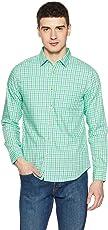 Symbol Amazon Brand Checkered Regular Fit Casual Shirt