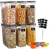 GoMaihe Boite de Rangement Cuisine Lot de 6×2.5L, Bocaux Hermetiques Alimentaires en Plastique Scellée avec Couvercle, Pour S