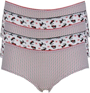 Ex-Store Multipack of Cotton Rich Thongs 5 Pack Multi 12