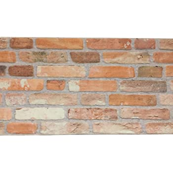 Plastica adesiva effetto finto mattone muro rivestimento for Carta parete adesiva