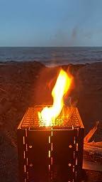 Lixada Estufas de Leña Camping Estufa Plegable Acero Inoxidable para Camping Senderismo Mochilero Trekking Picnic BBQ