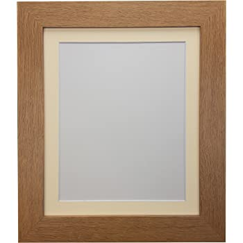 FRAMES BY POST Metro Oak Frame with Ivory Mount 12 x 10 For Image ...