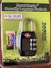 DOCOSS-331-TSA Approved Lock 3 Digit For USA Number Locks Padlock For luggage Bag Travelling International Password Locks Combination Lock Travel Locks (BLACK (1 PC))