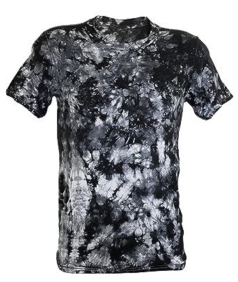 Tie Dye Black Scrunch T-Shirt: Amazon.co.uk: Clothing