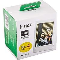 Fujifilm Instax Mini Film Pellicola Istantanea per Fotocamere Instax Mini, Formato 46x62 mm, Confezione da 10x4 Foto