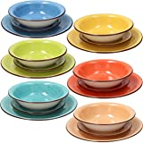 Tognana Service de table 18 pièces Art & Pepper, Stoneware, multicolore