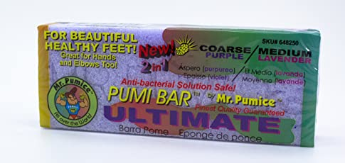 Mr. Pumice Ultimate Pumi Bar (6 Pack): 2-in-1 Callus Remover, Pedicure Stone & Ped File Scrubber for Smooth Feet and Heels, Dual-Grit (Medium + Coarse)