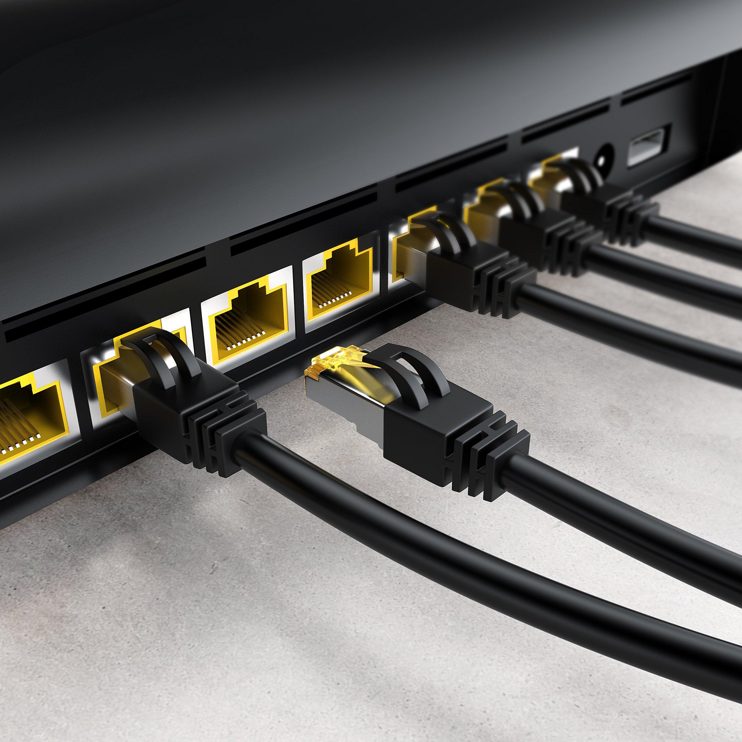 Cable de Conexi/ón Cable Cat 7 en Bruto con apantallamiento S//FTP PIMF y Conector RJ 45 Primewire 0,25m Cable de Red Gigabit Ethernet Cat 7 10000 Mbit//s Punto de Acceso Switch Router Modem