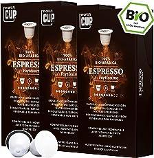 Bio Kaffeekapseln Nespresso kompatibel kompostierbar ohne Alu von My-CoffeeCup (Kaffee Espresso No. 1 Fortissimo, 30 Kapseln)