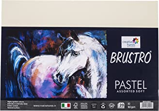 Brustro Artist's Pastel Papers 160 GSM A3 Assorted Soft (Pack of 20 Sheets)