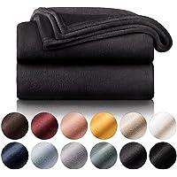 Blumtal - Couverture Polaire 130 x 150 - Plaid Anthracite - Plaid pour Canapé - Plaid Cocooning - Couverture Polaire…