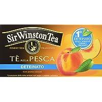 Sir Winston Tea Infusione per Bevande Calde, Pesca Deteinato - 20 filtri - [confezione da 3]