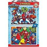 Educa - Marvel Super Heroe Adventures Puzzles, 2x20 Piezas, Multicolor (18648)