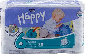 Bella Baby Happy Windeln, Monatsbox, Größe 6 (Junior Extra), 16+ kg, (1 x 152 Windeln)