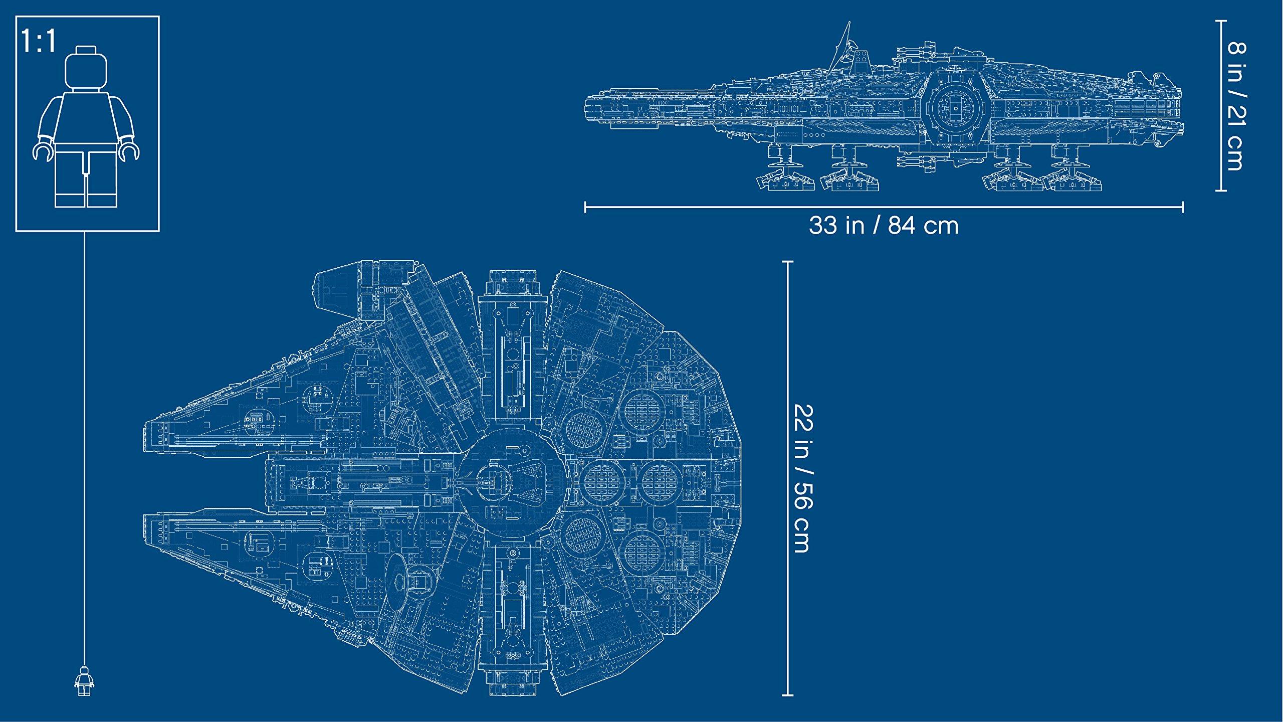 LEGO Millennium Falcon Costruzioni Piccole Gioco Bambina Giocattolo 140, Multicolore, 5702015869935 4 spesavip