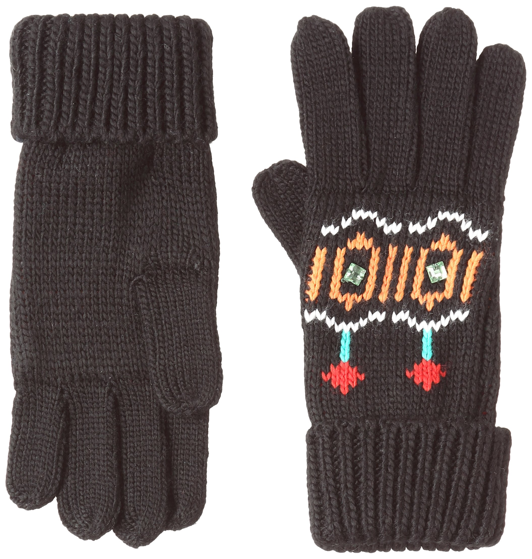 Desigual Gloves_Eternal Guantes, Negro (NEGRO 2000), Talla única (Talla del fabricante: One size) para Mujer