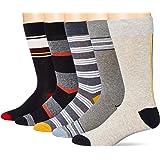 Marca Amazon - Goodthreads 5-pack Patterned Socks - casual-socks Hombre