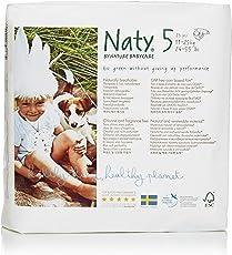 NATY by Nature Babycare Ökowindeln - Größe 5 (11-25 Kg), 4er Pack (4x 23 Stück)