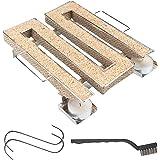 riijk Koudrookgenerator voor koud roken in rookoven, grill enz. | Rechthoekig M-vorm – spaarrand koude rookgenerator | rooksp