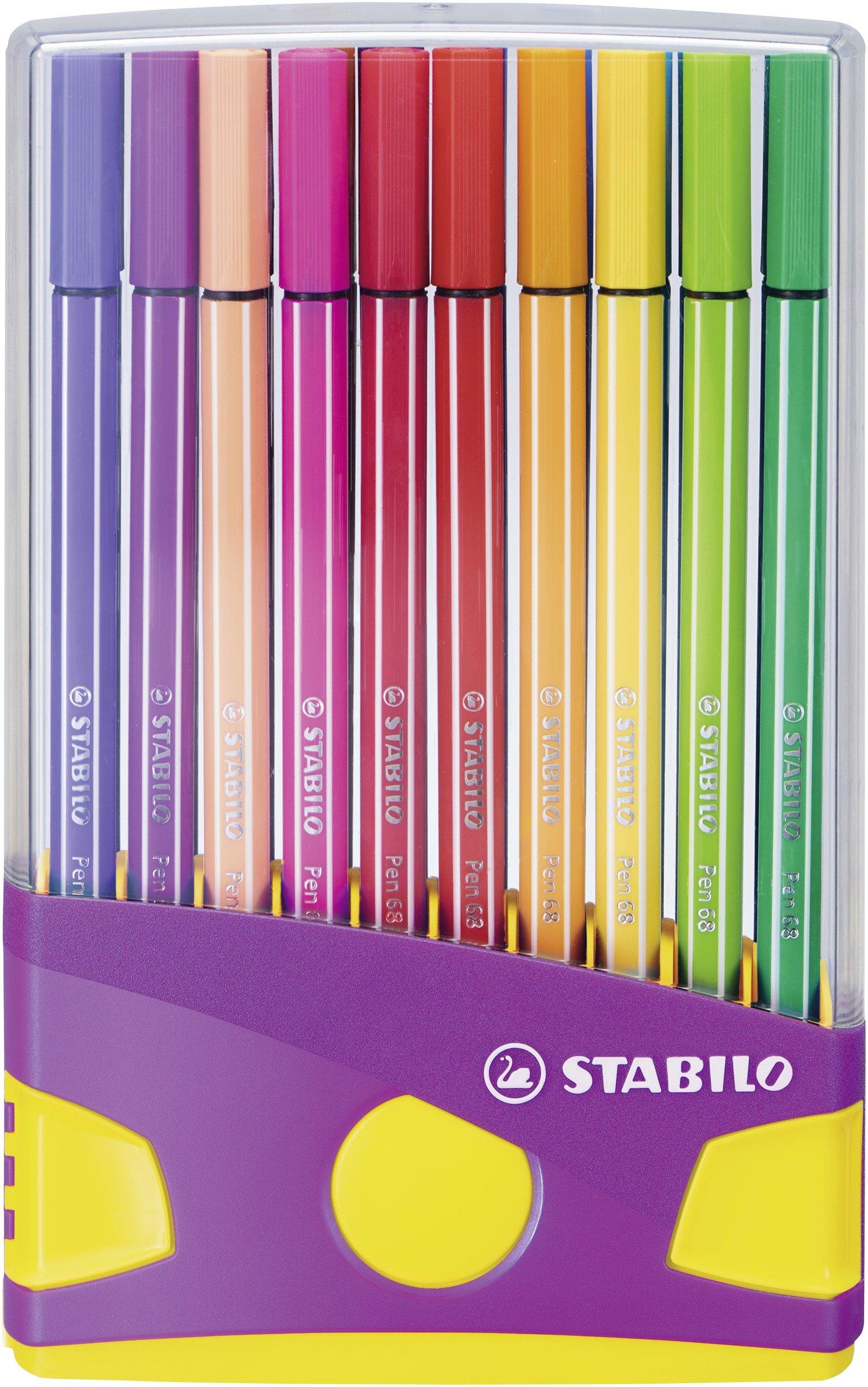 Rotulador STABILO Pen 68 – Estuche premium Colorparade con 20 colores