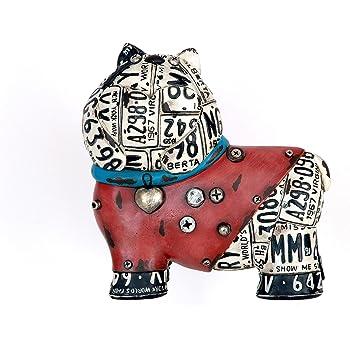 28/cm R/ésine Multicolore Sukima Decor Figurine avec Motif caract/ères Gras Colonial
