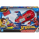 MARVEL Nerf Power Moves Spider-Man Web Blast Web Shooter Nerf Dart-Launching Toy for Kids Roleplay, Toys for Kids Ages 5 and Up