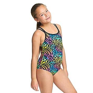 Zoggs, costume da bagno per ragazze Wild Cat Duoback, ragazza ...
