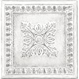 NuWallpaper NU2495 Reclaimed Tin Peel & Stick Wallpaper, White & Off-White