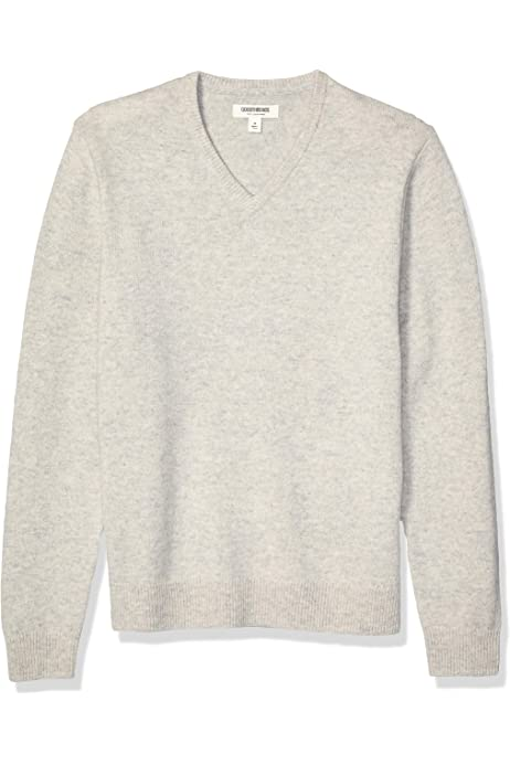 Goodthreads Lambswool V-Neck Sweater Pullover-Sweaters Uomo