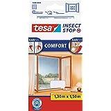 tesa Insect Stop Comfort Vliegenhor voor Ramen - Insectenhor, raamhor - Met klittenband - Snijd op maat - Zonder boren - Mugg