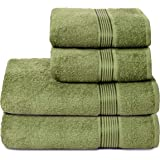 GLAMBURG Juego de 4 Toallas Ultra Suaves, de algodón, Contiene 2 Toallas de baño de 70 x 140 cm, 2 Toallas de Mano de 50 x 90