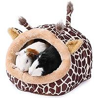 JanYoo Kleintierhöhle für Chinchilla, Igel, Meerschweinchen, Käfigzubehör, Spielzeug, für Bartagame, Hamster, Frettchen…