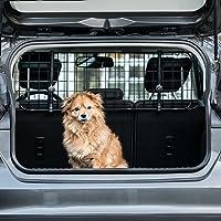 Heldenwerk Universal Kofferraum Trenngitter für Hunde - Auto Hundegitter Zum Transport für deinen Hund - Schutzgitter mit Kopfstützen-Befestigung - Stufenlos verstellbares Kofferraumschutz Gitter