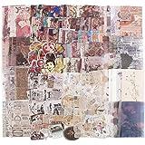 220Pcs Papiers Vintage Scrapbooking Autocollants Décoratifs Stickers Adhésif Gommettes Etiquettes Rétro Papeterie DIY Album P