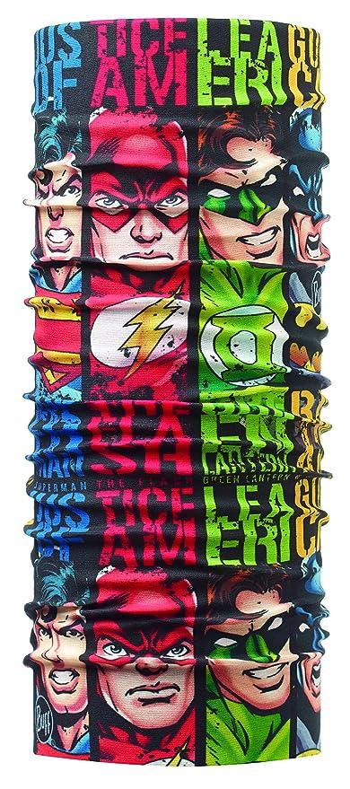 Buff - Fascia multifunzione Supereroi da Bambino, Taglia unica, Multicolore  (Superheroes Quartet)