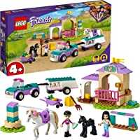 LEGO 41441 Friends Trainingskoppel und Pferdeanhänger, Spielzeug ab 4 Jahre für Mädchen und Jungen mit Pferdestall und…