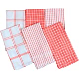 PIXEL HOME GOLDENMARC 6 Pieces Cotton 20 gsm Multi-Purpose Terry and Waffle Dish Cloths Kitchen Wiping Cleaning Towel (Multic