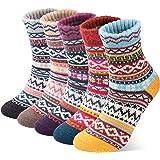 5 Pairs Thermal Women Socks Warm Thick Knitting Winter Wool Sock for Ladies
